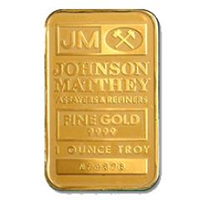 Johnson Matthey Gold Bars